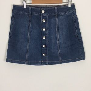 American Eagle Button Up Jean Skirt